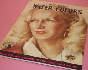 Walter Foster How to Do Water Colors #5 Art Book Vintage