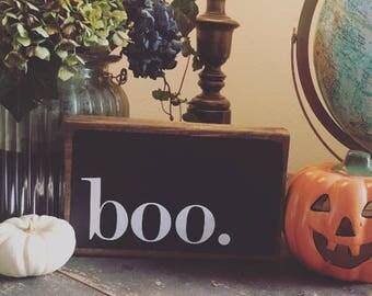 Boo. Cute Halloween Vinyl Decal. Perfect for your front door.