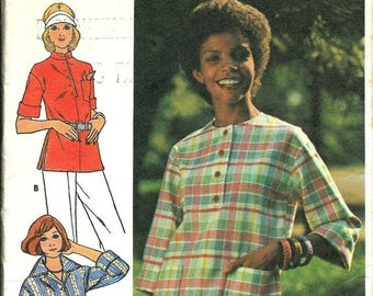 25% OFF VTG Butterick 4068 Misses Fast and Easy Top Pattern, Size 18 UNCUT