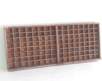 Typesetter tray wall decor