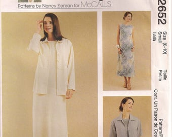 McCall's Sewing Pattern 2652 - Misses' Dress and Unlined Jacket (8-10, 12-14)
