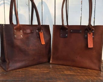 ON SALE NOW Distressed Brown Leather Handbag* The Bella* Soft Brown Leather Purse* Small Brown Leather Purse* Custom Made in the Usa