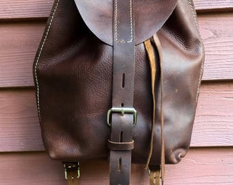 ON SALE NOW Leather Backpack* Brown Leather Backpack* Rustic Leather Backpack* Shoulder Bag* Boho* Leather Day Pack* Leather Bike Bag* Us Ha