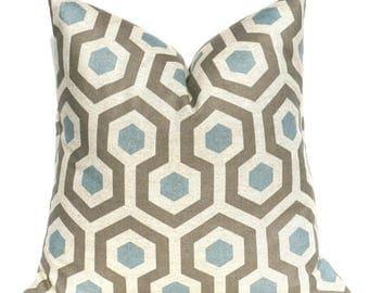 15% Off Sale Blue Pillow, Modern pillow, Decorative Pillow, Accent pillow, Throw Pillow, Geometric Pillow , Grey pillow Linen Pillow, Gray B