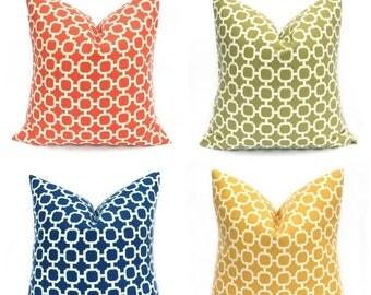 15% Off Sale Outdoor Pillow Cover - Outdoor Pillow -  Outdoor Pillows - Navy Pillow - Orange Pillow -  Outdoor Decor - Patio Decor - Yellow