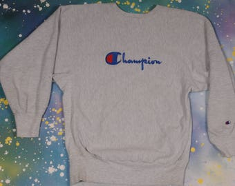 Grey CHAMPION Reverse Weave SWEATSHIRT Size XL