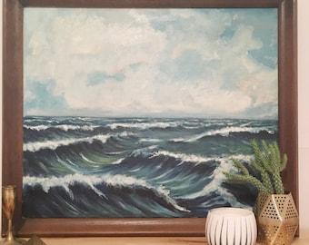 Vintage Painting Waves/Seascape
