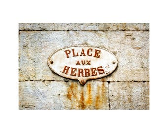 French Kitchen Art, Street Sign Photo, Travel Photography, Rustic Home Decor