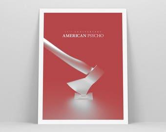 American Psycho ~ Minimal Movie Poster, Retro Minimalist Art Print by Christopher Conner