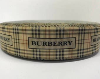 "1"" Burberry Grosgrain Ribbon"