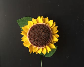 Felt Sunflower - Build your own Bouquet - Felt Flowers A La Carte