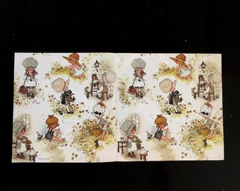 Vintage HOLLY HOBBIE Wrapping Paper / One Sheet