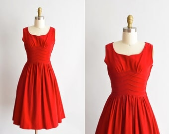 1950s Dynamite dress/ vintage 1950s velvet dress/ Semiteen  Fashion full skirt dress
