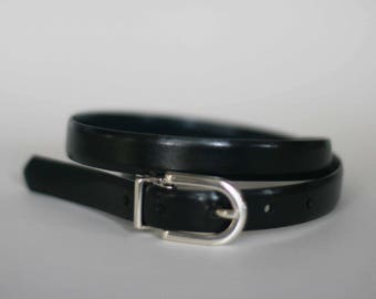 vintage anne klein black leather belt
