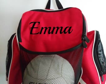Personalized soccer/basketball/volleyball backpack/sports bag/Athletic bag/boys girls/gym bag/birthday gift/Christmas gift/ team sports