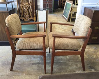 Fabulous Mid Century Modern Arm Chairs, Pair