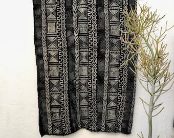 Mudcloth textile, Mud cloth fabric, black and white mudcloth home decor tribal fabric #40