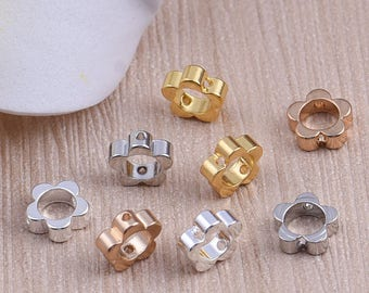 20pcs / 50pcs / 100pcs 7.5x3mm High Quality Flower Pendant Charms / Connector with a Two Hole  -- PA282