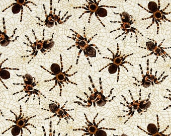 Fat Quarter Tarantula Spiders You Bug Me 100% Cotton Quilting Fabric Insects