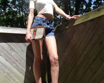 GUCCI Bag 1970s /Picasso N Gucci Set  /1980s Rustic Gucci Perfumes /CLUTCH Bag /Hand Bag/ Designer VTG Clutch