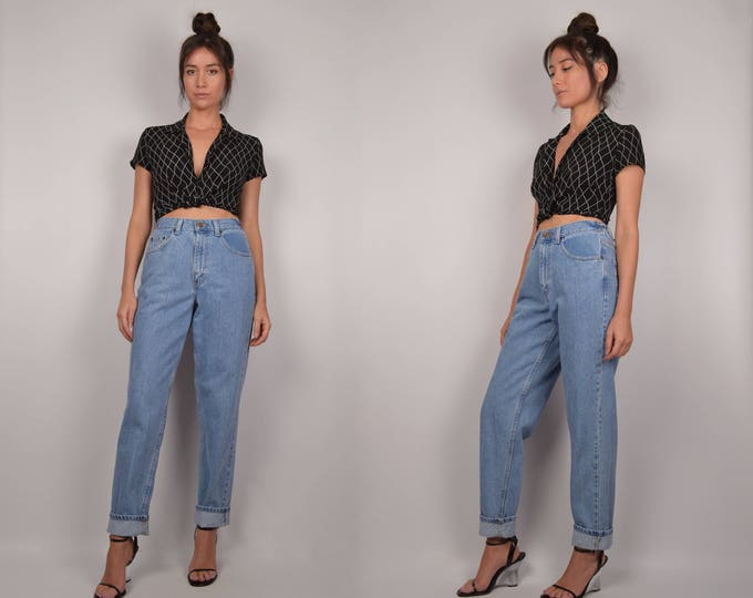 Vintage High Waist Tapered Mom Jeans