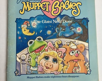 Vintage Jim Henson's Muppet Babies The Giant Next Door. Muppet Babies make Nightime fears disappear. 1985