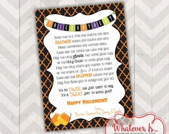 Halloween Wish Party Favor Tags/Cards