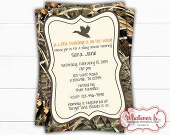 Camouflage Baby Shower Invitation | Duck Hunter Baby Shower | Camo Baby Shower | Baby Shower | Printable | DIY | Hunting | Camouflage | Boy