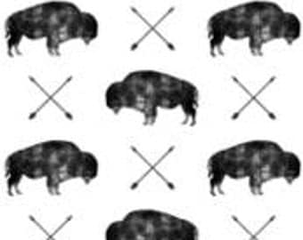 Distressed Buffalo Changing Pad Cover
