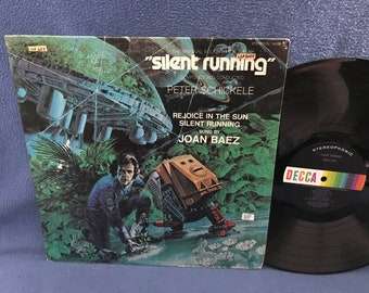 "RARE, Vintage, Joan Baez ""Silent Running"" Original Motion Picture Score, Soundtrack, Peter Schickele, Vinyl LP, Record Album, Sci Fi"