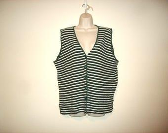 Vintage 1990s Striped Sweater Vest