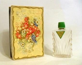 Antique Vintage Perfume 1930s Cuir de Russie by Bienaime Pure Parfum Extrait Art Deco Bottle & Box Russian Leather