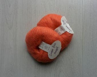 Mohair yarn ON SALE Super kid mohair Super kid mohair yarn Luxurious yarns Coral mohair yarn Clearance Yarn destash Aprricot pink yarn