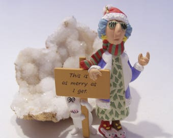 "Hallmark Keepsake Maxine Collectible Christmas Ornament ""This is as Merry as I Get"""