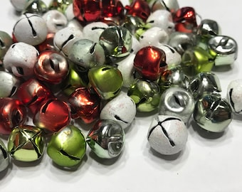 10 piece Assoted mix of small Vintage Jingle Bells, 9 mm (F1)