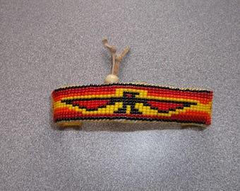 thunderbird bracelet, native american beadwork
