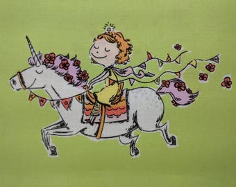 "CRAFTY CHLOE Unicorn by Heather Ross 22"" Fabric"