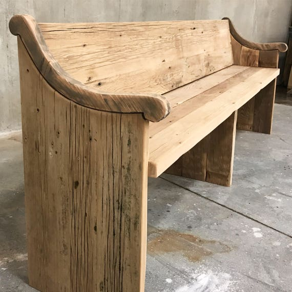 Reclaimed solid wood raw wax finish dining / entry /bedroom/footboard bench