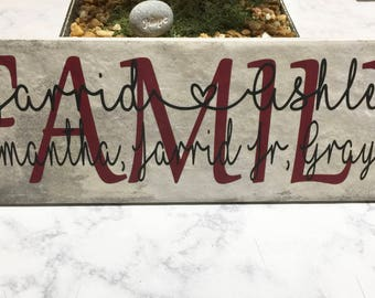 Decorative Wall Tile | Personalized Gift | Wedding Gift | Housewarming Gift | Anniversary Gift | Family Sign | Ceramic Tiles | Names