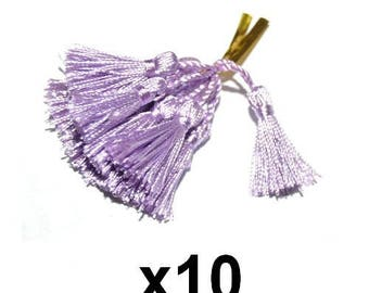 10 purple mauve tassel charms tassels 4.5 / 5cm