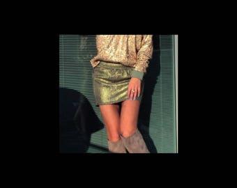 Sequin top, Women Top, Golden top, Designer Blouse, Gold Sequin , Olive Green, Sequin , ILOVESALE 30% coupon code