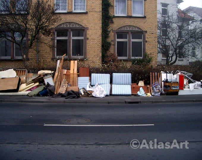 5 Postcards 'Trashcollection I', Set of 5,  home decor, streetart, art, photography