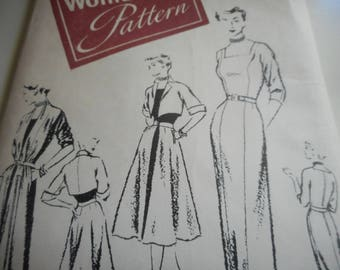 Vintage 1950's Woman's Day 3267 Pauline Trigere Original Sewing Pattern Size 18 Bust 36