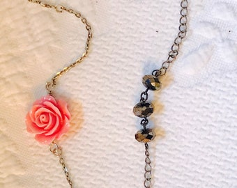 Ready to ship... Vintage repurposed! Shabby Chic necklace
