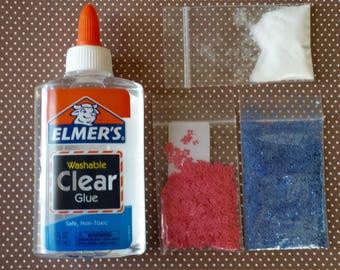 Mini Slime Kit  5 oz Clear Elmer's Glue Borax and Glitters