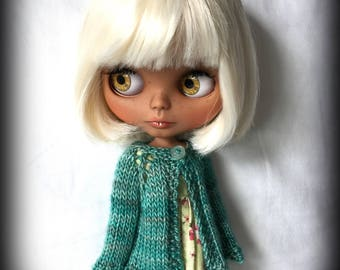 Blythe Doll Knitted Luxury Madelinetosh Merino Cardigan