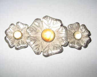 1940s Silver Tone Pin Brooch Vintage Costume Jewelry #534