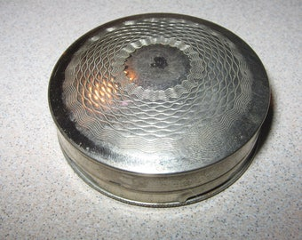 Norida Quality Compact Silver Tone  Vintage Costume Jewelry #2415