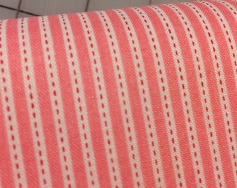 HALF YARD cut of Riley Blake - Backyard Stripe by Nadra Ridgeway in Pink C5296 - 100% cotton