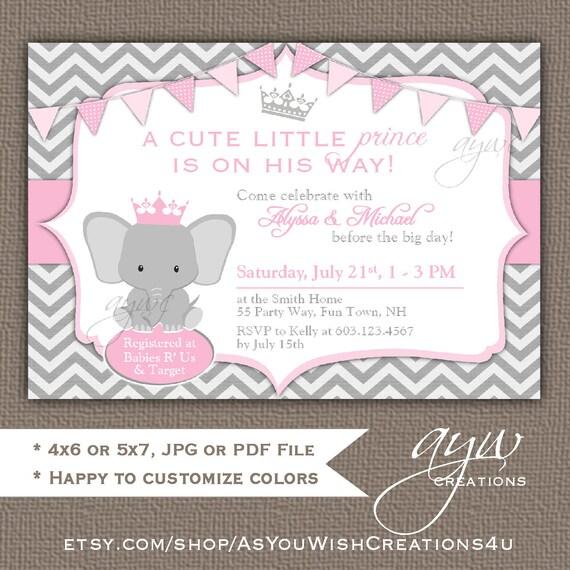 Elephant baby shower invitation girl elephant baby shower invitation il570xn filmwisefo